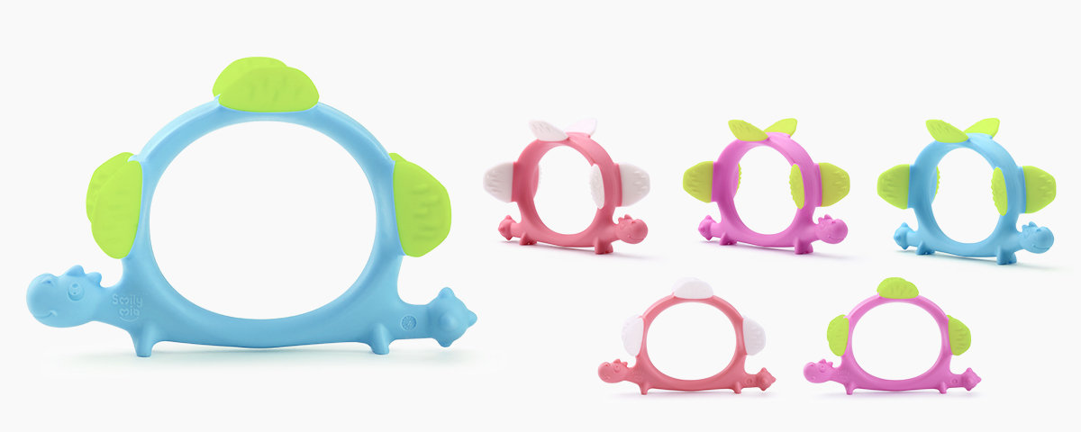 custom silicone teether supplier for baby