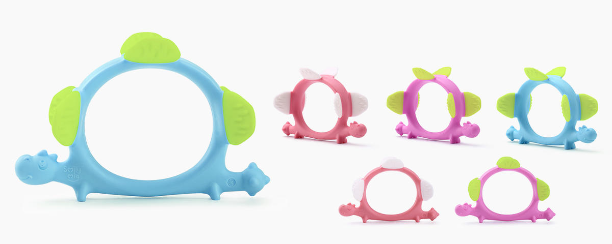 custom silicone teether supplier for baby-1