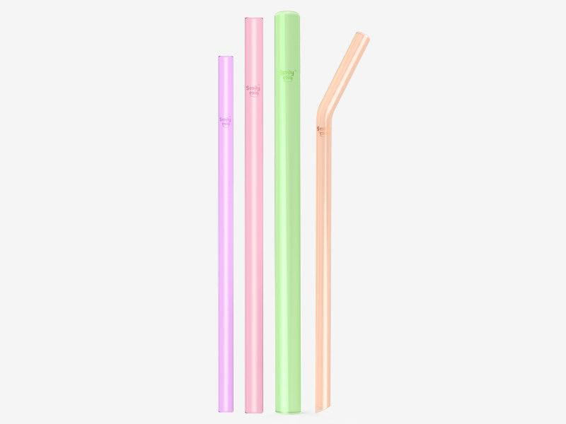 Smily Mia custom reusable smoothie straws manufacturer for kids