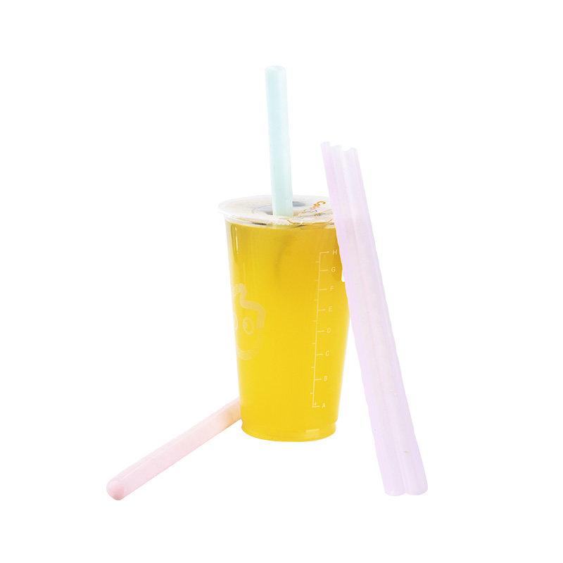 Smily Mia Openable Silicone Transparent Straw