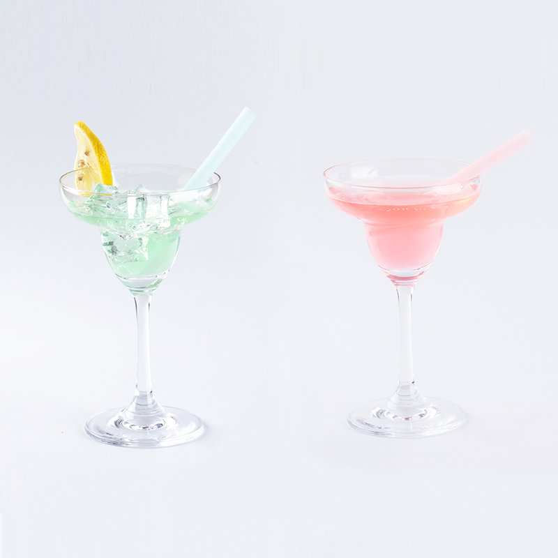 Smily Mia Reusable Silicone Cocktail Drinking Straw