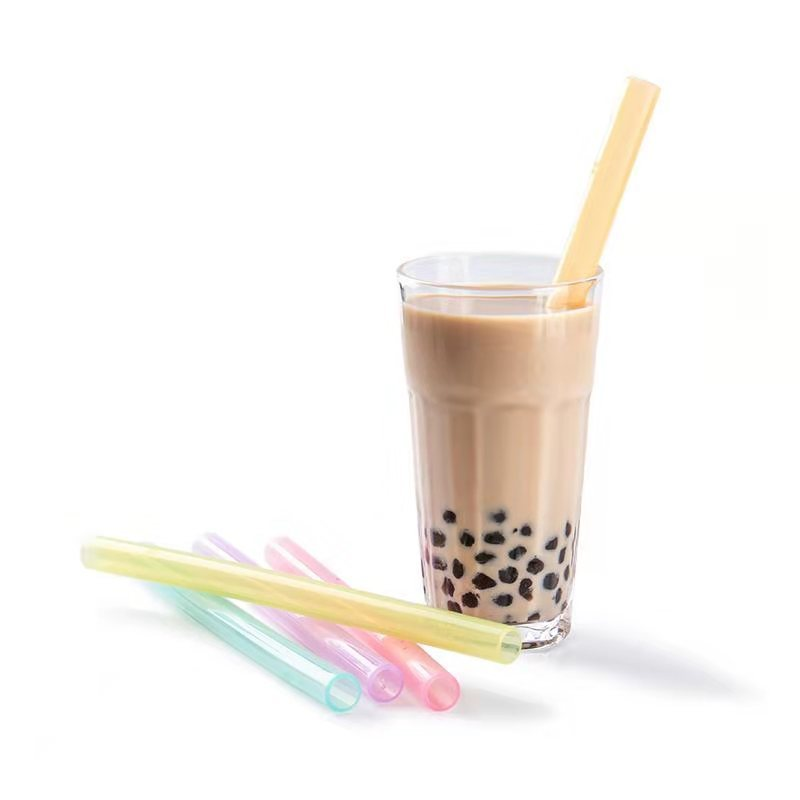Smily Mia Reusable Silicone Pearl Bubble Tea Drinking Straw( Transparent)