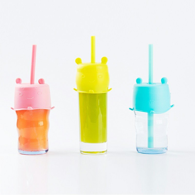 Smily Mia Hippo Cup Lid & Straw Set