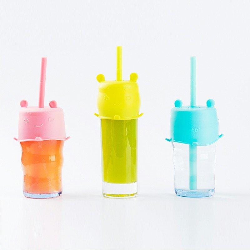 Smily Mia Hippo Cup Lid & Straw Set