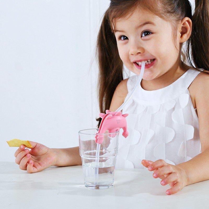 Smily Mia Dinosaur Cup Holder Fun Kid's Straw Set