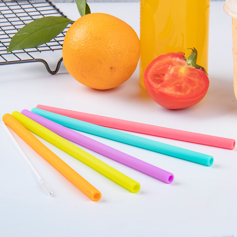 Smily Mia Reusable Liquid Drinking Straw(solid color)