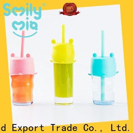Smily Mia pink reusable straws factory for kids