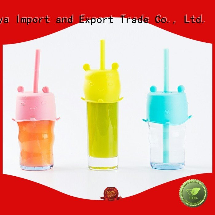 custom reusable silicone straws factory for drink